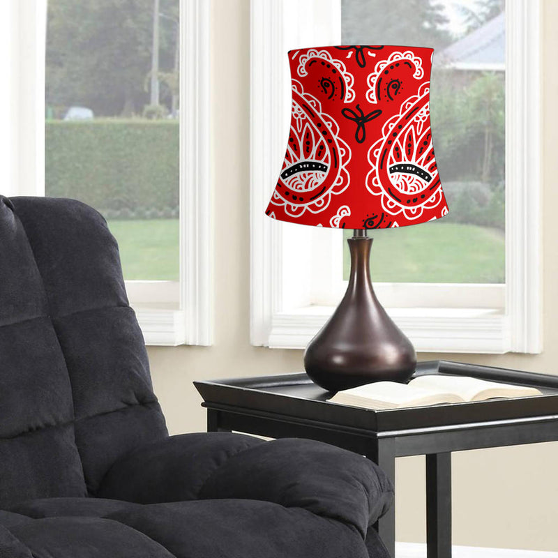 Western Red Paisley Drum Lampshade
