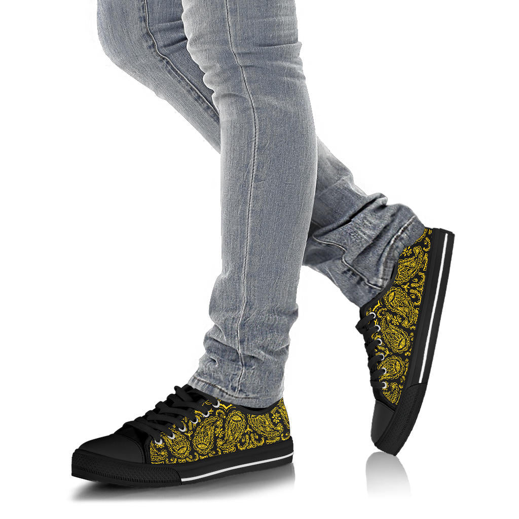Black Gold Bandana Low Top Sneakers