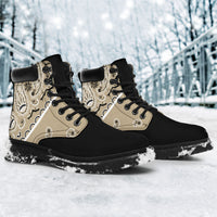 Khaki Bandana Blackout All Season Boots