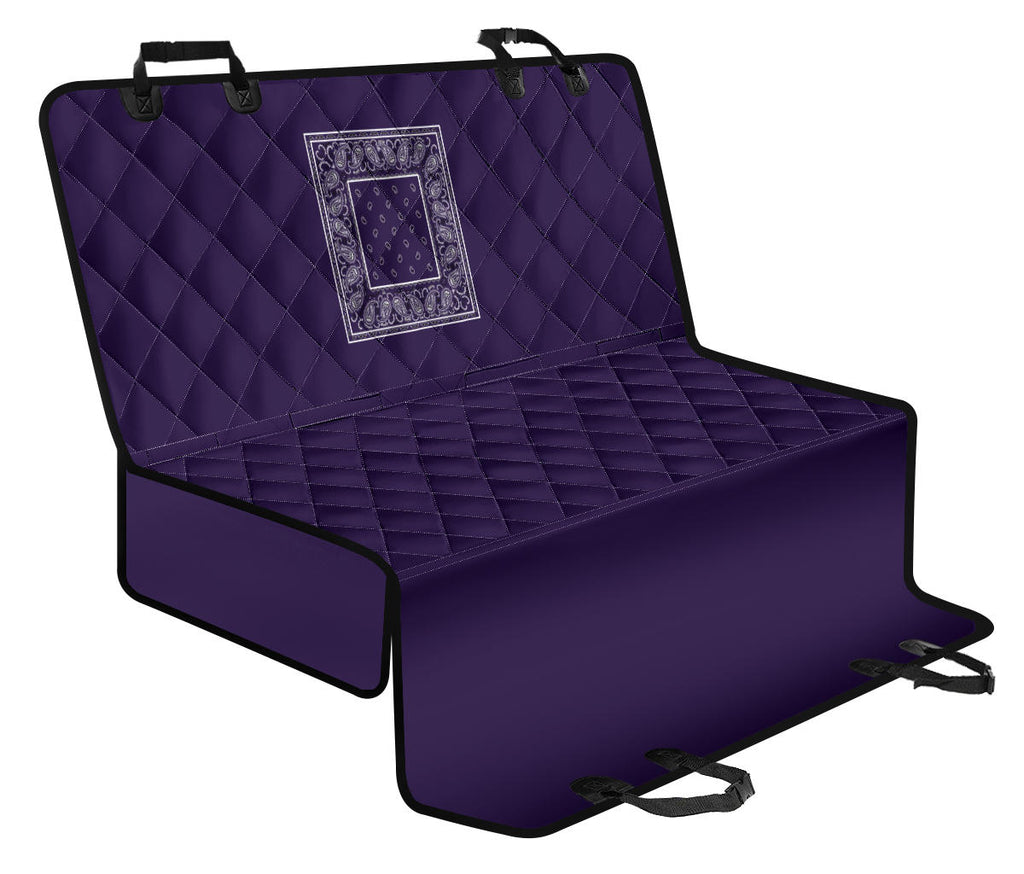purple pet safety seat for vans