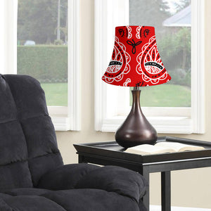 Western Red Paisley Bell Lampshade