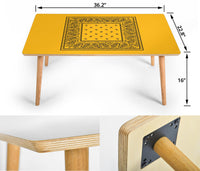 Gold and Black Bandana Coffee Table Assembly