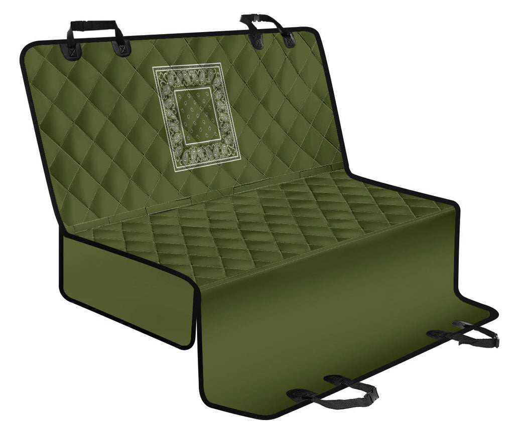 army green dog car seat cover