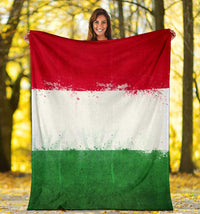Italian Flag Fleece Throw Blankets