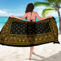 Black Gold Bandana Sarongs