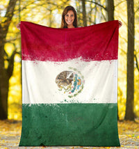 Mexican Flag Fleece Blanket