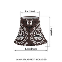 Brown Paisley Bell Lampshade Size