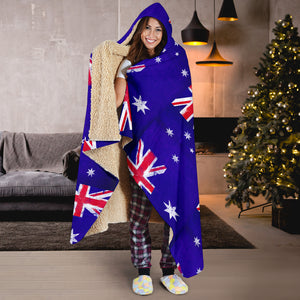 Australia Flag Tiled Hooded Blankets