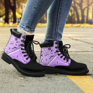lilac purple women's boots