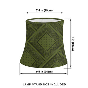 Army Green and Black Bandana Drum Lampshade sizes