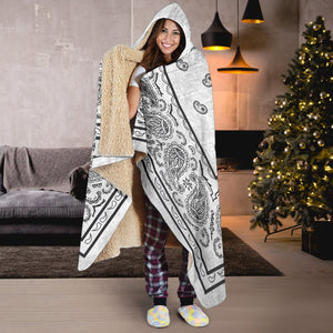 Ultimate Silver Gray Bandana Hooded Blanket