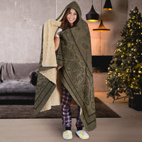 Brown Faded Bandana Hooded Blanket
