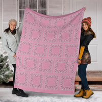 Pink Bandana Patch Throw Blankets