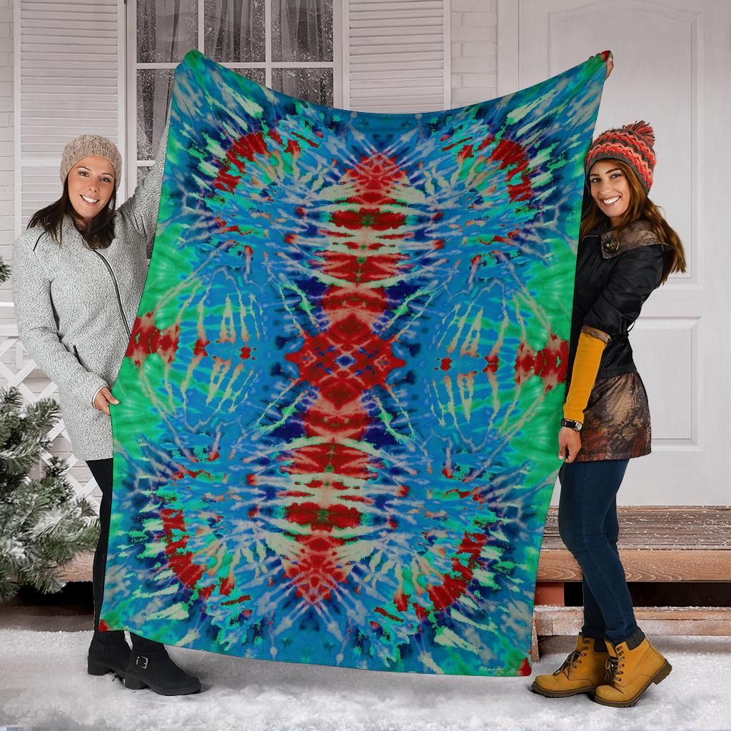 Southwestern Colors Tie Dye Fleece Throw