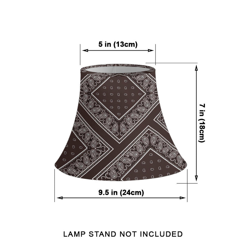 Brown Bandana Bell Lampshade Sizes