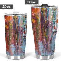 Drizzled Tumblers from Expressionistic Fine Art Painting