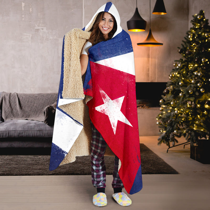 Cuba Flag Hooded Blanket Gifts