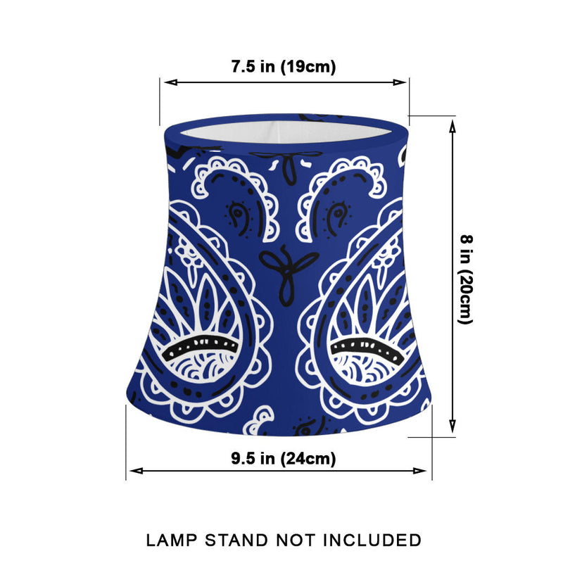 Royal Blue Paisley Drum Lampshade Size