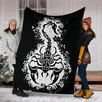 Scorpion Tribal Fleece Throw Blankets
