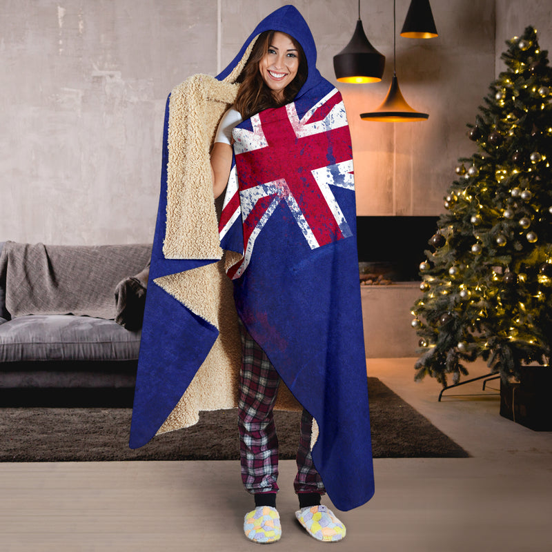 New Zealand Flags Hooded Blanket