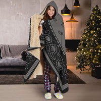 Gray and Black Hooded Blankets