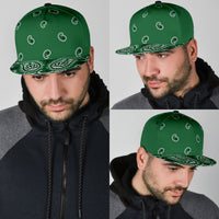green bandana snapback ball caps