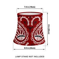 Maroon Paisley Drum Lampshade Sizes