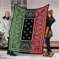 three color bandana fleece blankets