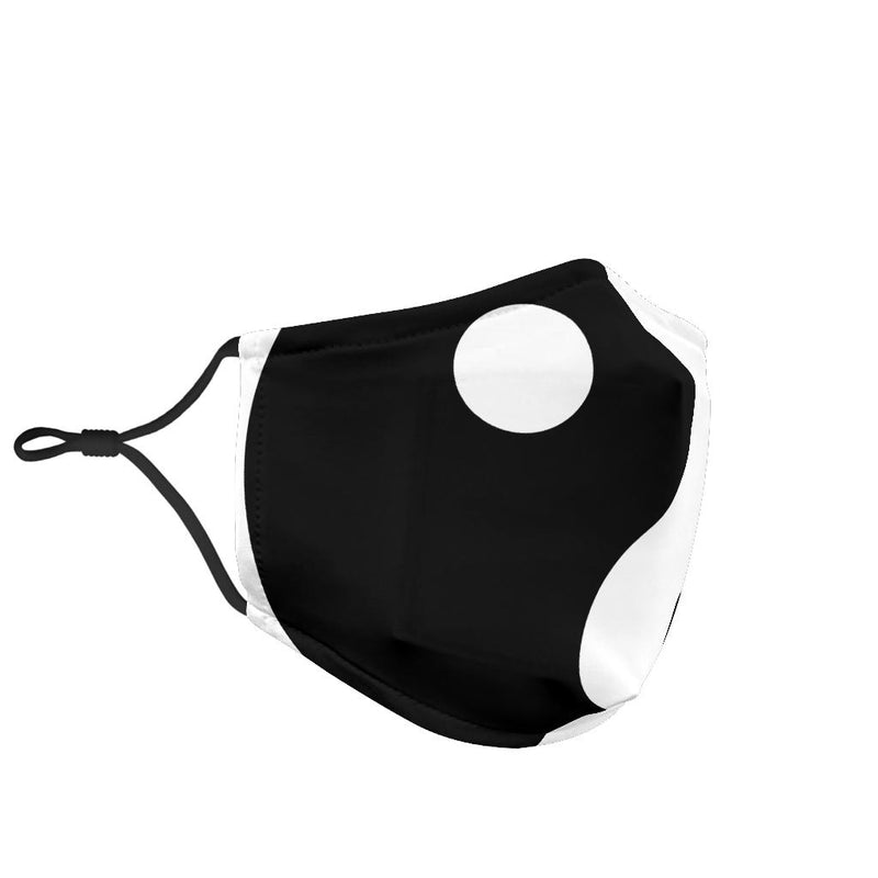 Ying Yang in Black and White Face Mask