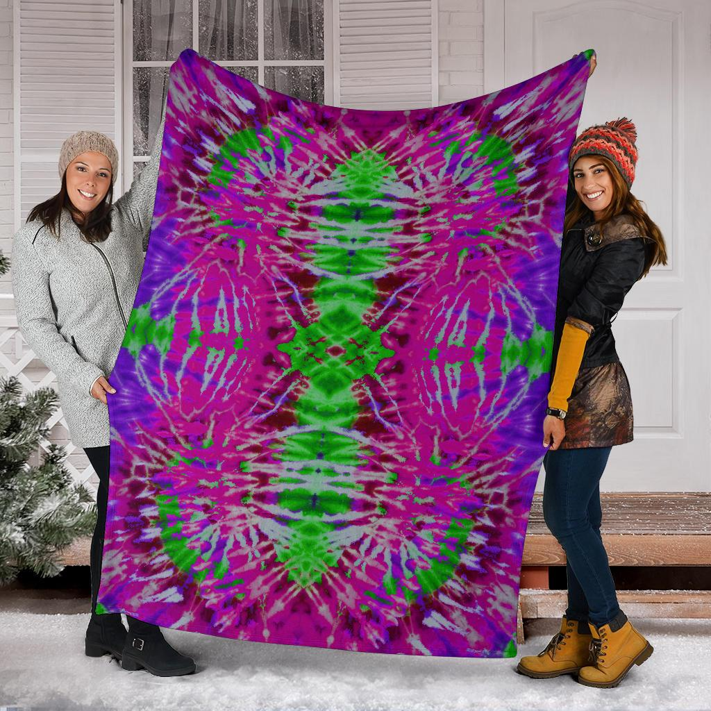 Tie Dye Fleece Throw Blankets