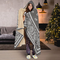 Ultimate Gray and White Hooded Blanket