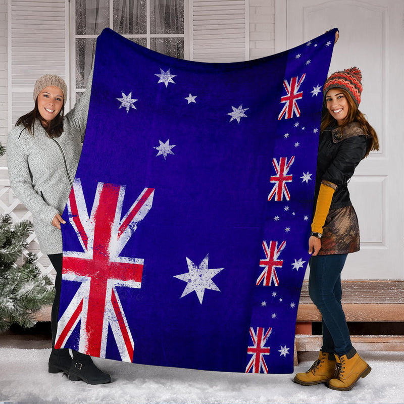 Australian Flag Fleece Throw Blanket