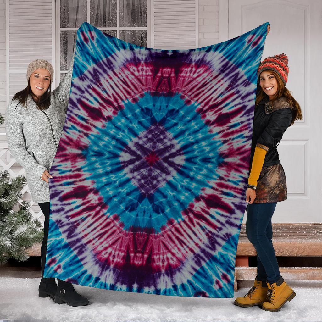 Tie Dye Fleece Throw