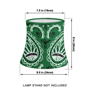 Green Paisley Drum Lampshade Sizes