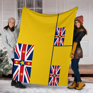 Niue Flag Fleece Blanket