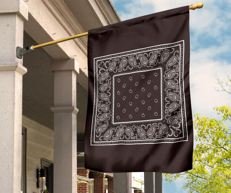 brown bandana patio flags