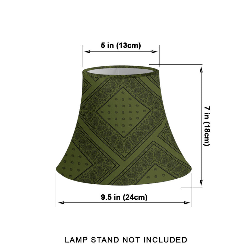 Army Green and Black Bandana Bell Lampshade size