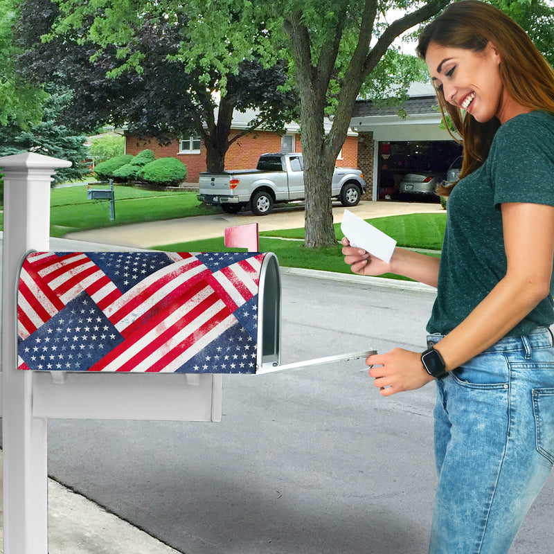 American Flag Bandana Collage Mailbox Cover