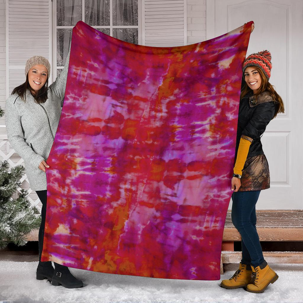Abstract Tie Dye Fleece Throw