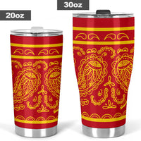 Red and Gold Bandana Tumblers