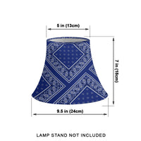 Royal Blue Bandana Bell Lampshade Size