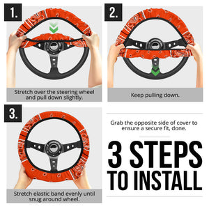Perfect Orange Bandana Steering Wheel Covers - 3 Styles