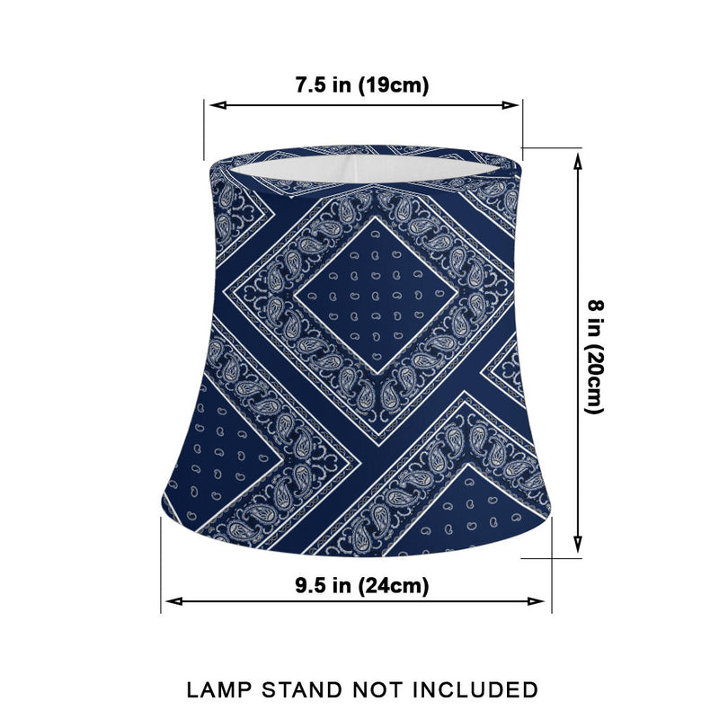 blue bandana lamp measurements