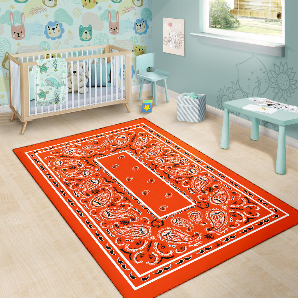 orange nursery rugs