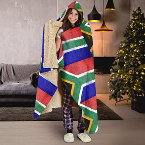 South African Flag Hooded Blanket