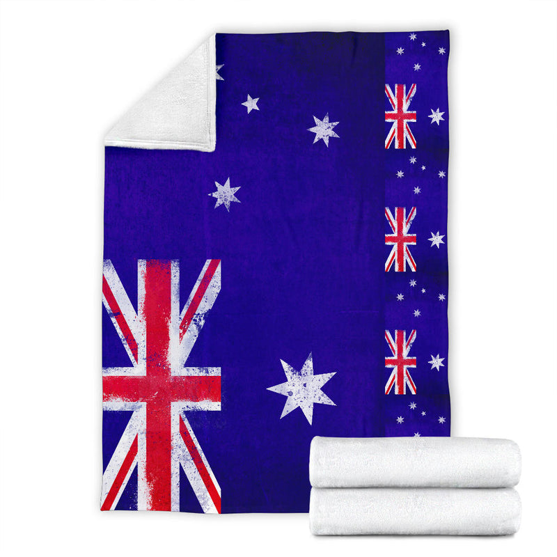 Australia Flag Fleece Throw Blanket
