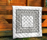 White Bandana Bedding