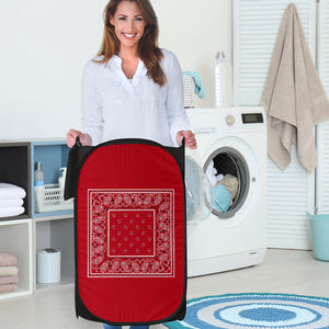 red bandana laundry hamper