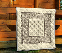Cream and Brown Bandana Quilts