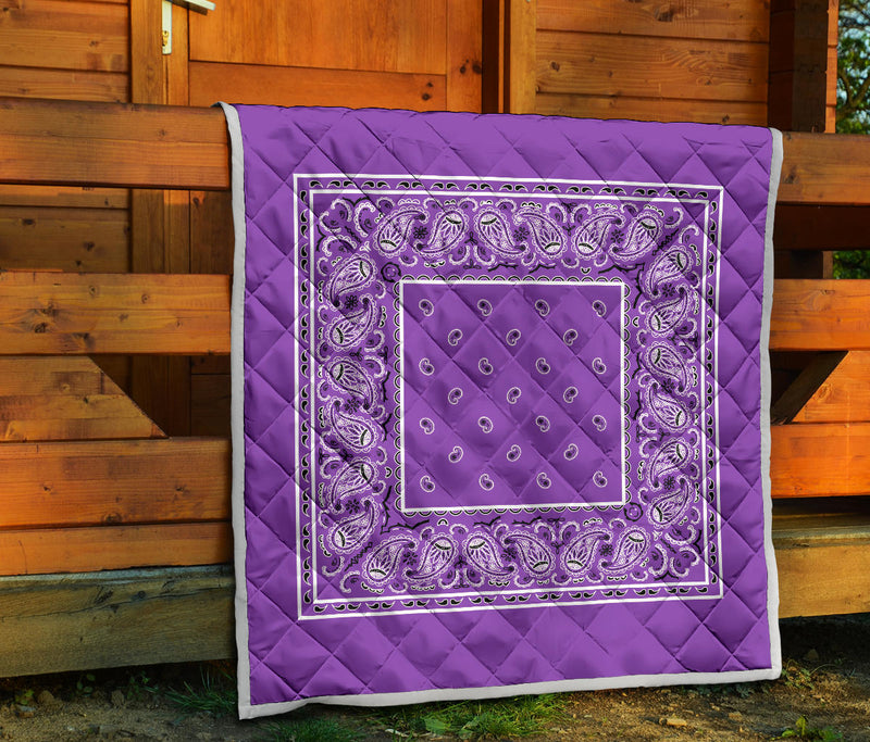 Dark Lilac Bandana Quilts